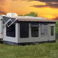 WANT!!!!!........Amazon.com: Carefree 291200 Vacation'r Screen Room for 12' to 13' Awning: Sports & Outdoors