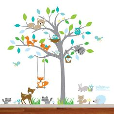Children Wall decals Nursery Wall Decals Tree Wall Decals