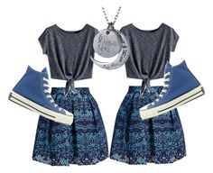 """Untitled #66"" by mburghardt on Polyvore featuring Maje and Converse"