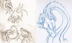 100 How To Draw Tutorials - Draw Dragons From Tooth to Tail - Eyes, Hair, Face, Lips, People, Animals, Hands - Step by Step Drawing Tutorial for Beginners - Free Easy Lessons Sketch Faces, Drawing Sketches, Drawing Tips, Drawing Techniques, Drawing Ideas, Pencil Sketching, Character Design Sketches, Character Design Cartoon, Fantasy Magic