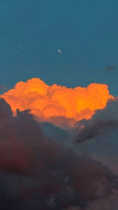 cloudy sky aesthetic wallpapers night cute iphone phone crescent moon codejans backgrounds