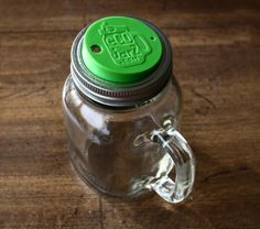 Eco-Jarz lids turns a mason jar into a coffee or sippy cup.