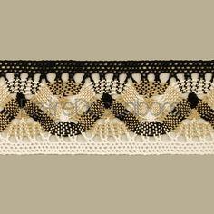 Entredós de encaje de bolillos de algodón mercerizado de 5,5 cm. (Disponible en 7 combinaciones de colores)