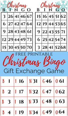 A great family game that everyone can play. Christmas Bingo Printable, Christmas Bingo Game, Christmas Gift Exchange Games, Christmas Games For Family, Christmas Holidays, Winter Holiday, Christmas 2019, Xmas, Family Party Games