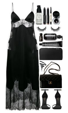 """Untitled #342"" by zada ❤ liked on Polyvore featuring Off-White, Yves Saint Laurent, Chanel and Bobbi Brown Cosmetics"