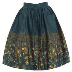 'Adalene' City Lights Print Swing Skirt
