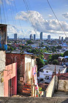 """Recife, as seen from the favela,"" Pernambuco, Brazil"