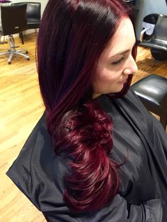 red wine merlot ombre with balayage on virgin hair. Black Bedroom Furniture Sets. Home Design Ideas