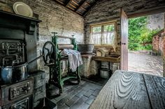 Washroom from the Olden Days - Photo taken in one of the many Photogenic buildings at the Black country Living Museum.