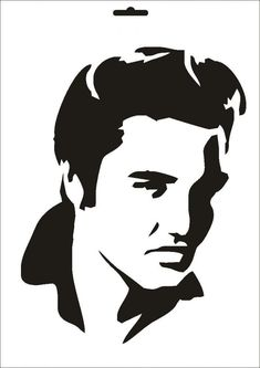 Elvis Jordan Mylar Stencil Craft Home Decor Painting Wall Art Micron & Garden Silhouette Tattoos, Stencil Art, Art Drawings, Silhouette Art, Silouette Art, Art, Face Stencils, Pop Art, Stencils