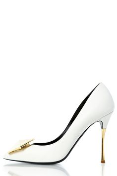 Hexagon Embellished Pump - OFF WHITE | NICHOLAS KIRKWOOD | Green with Envy