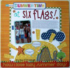 Summertime at Six Flags - Scrapbook.com