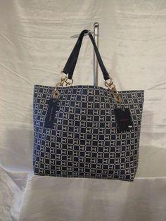 Bag Tommy Hilfiger Handbag Reversible Tote 6932951 423 Color Blue Retail $118.00 #TommyHilfiger #Totes