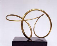 'Construction #174' (1976) by American artist José de Rivera (1904-1985). Bronze, 9.5 in high. via Valerie Carberry Gallery