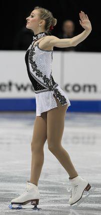 Ashley Cain, White Figure skating / Ice Skating dress inspiration for Sk8 Gr8 Designs.