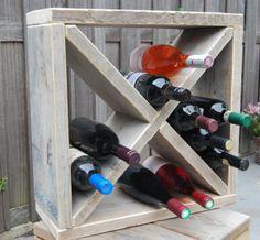 """Wijnrek van steigerhout....er, I mean, """"Simple Wine-rack""""....I think."""