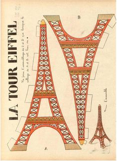 """The Trip Eiffel is really a sign of Paris. It is the most recognizable function of the city and, in reality, the world. Located in the arrondissement, the Eiffel Tower was a marvel of """"modern"""" engineering. Paris Party, Paris Theme, Vintage Images, French Vintage, Vintage Posters, French Posters, Vintage Clocks, Vintage Style, Valentine Day Crafts"""