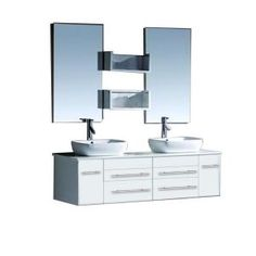 Virtu USA Augustine 60 in. Double Basin Vanity in White with Stone Vanity Top in White and Mirror-UM-3051-WH at The Home Depot