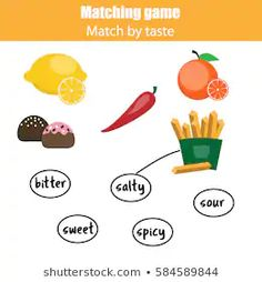 free worksheet sweet sour bitter salty spicy - Google Search Sweet And Spicy, Bitter, Worksheets, Google Search, Free, Literacy Centers, Countertops
