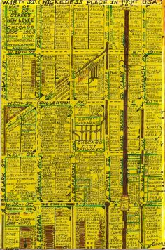 A meticulous map of vintage Chicago vice, showing the names and locations of every brothel, bar, casino and saloon that existed in the Cheyenne and Levee Districts of Chicago between 1870 and 1905, completed by Levee historian Bryan Lloyd.