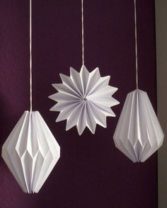 Plissee- Anhänger, Origami-Deko, 3er-Set