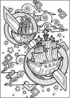 Creative Haven Futuristic Worlds Coloring Book | Dover Publications