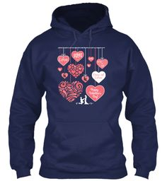 Love Love Love You& Me Day Of Love Happy Valentine's Day Navy Sweatshirt Front