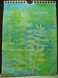 art journal TCW geelgroen blad (1)
