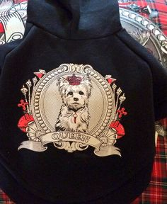 #queenofhearts black cotton doggie hoodie !