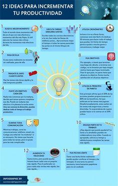 12 Ideas para aumentar tu productividad #egresados #estudiantes #umayor