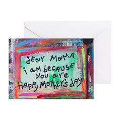 dear mama Greeting Card on CafePress.com