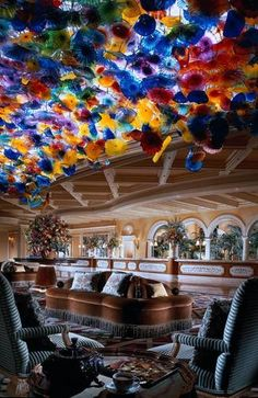 Lobby at the Bellagio, my favorite place there.