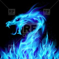 Illustration about Abstract blue fiery dragon. Illustration number two on black background for design. Illustration of dark, claws, beautiful - 21112949 Blue Flame Tattoo, Flame Tattoos, Fiery Dragon, Dragon Rise, Dragon Bleu, Blue Dragon, Magia Elemental, Stick Wall Art, Dragon Illustration