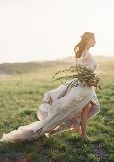 Jose Villa ,  Samuelle Couture ,  field ,  greek ,  Styled Photoshoot ,   ,  Grecian Goddess
