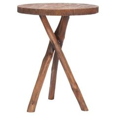 Check out this item at One Kings Lane! Heidi Tripod End Table, Oak