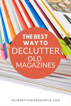 Sometimes magazines can really pile up? Here are a few tips for decluttering your old magazines. #homedeclutter