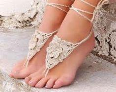 relief work crochet sandals