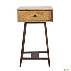 For this side table there is always a place in the house. The wooden table with drawer has a vintage look and a high must-have content. Sky box from Small Furniture, Living Furniture, Luxury Furniture, Tall Side Table, Side Table With Storage, Style Vintage, Vintage Fashion, Green Rooms, Wooden Tables