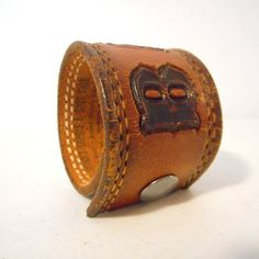 Barb Leather Cuff Bracelet Jewelry Reclaimed by honeyblossomstudio