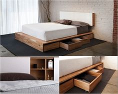 Platform storage bed | LAXseries storage bed