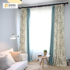 How to Add Living Room Privacy Without Blocking Light Bird Curtains, Window Curtains, Window Shutters, Blackout Curtains, Living Room Decor Curtains, Living Room Windows, New Living Room, Glass Door Coverings, Curtains
