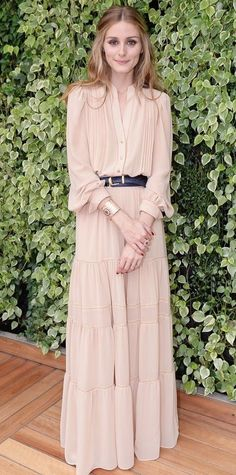 How To Wear Belts - Look of the Day - November 2014 - Olivia Palermo from - Discover how to make the belt the ideal complement to enhance your figure. Trendy Dresses, Nice Dresses, Summer Dresses, Summer Maxi, Casual Dresses, Beautiful Dresses, Moda Outfits, Dress Outfits, Hijab Outfit