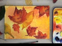 Capture the beautiful colors of fall with this how to paint video. Work fast and loose and let the colors mix on the paper for a beautiful result. Use waterc...