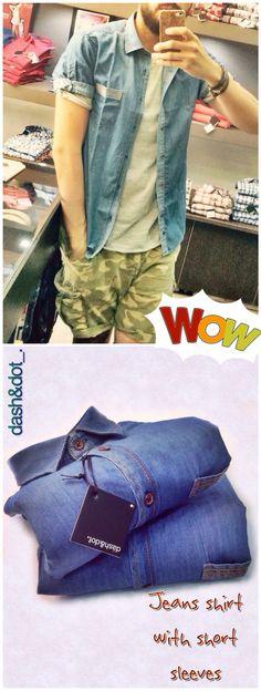 dash&dot short sleeve jeans shirt _.