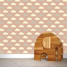 Pink og grå Wallpaper, tapet til børneværelse | Wallpaper tapet, wall sticker | w:form
