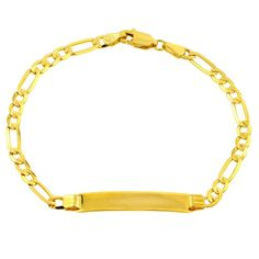 14k Gold 3.7mm Women`s ID Bracelet, 7 $360.00 (save $450.00) + Free Shipping