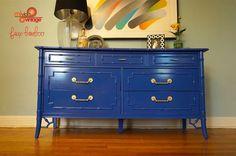 Bold blue paint