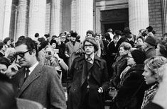 Yves Saint Laurent at Coco Chanel's funeral service (13/01/1971) #CocoChanel…