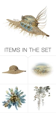 """""""Decorate a Hat in *Scrap Happens*"""" by birgitte-b-d ❤ liked on Polyvore featuring art, contest, Flowers, hat and artset"""