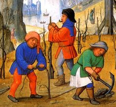 viticulture in middle age - Hľadať Googlom 17th Century Fashion, Medieval Manuscript, Bruges, Middle Ages, Craftsman, Painting, Brewing, Costa, Vineyard